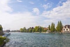 Rhine river in Konstanz city, Germany Royalty Free Stock Photos