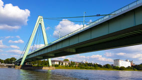 Rhine river modern bridge Stock Images