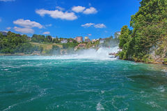 Rhine river and the Rhine Falls Stock Photography