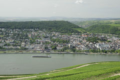 Rhine river scenic in germany. Royalty Free Stock Photo