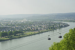 Rhine river scenic in germany. Royalty Free Stock Images