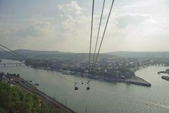 Rhine river scenic in koblenz Royalty Free Stock Image
