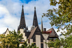 Rhine river side in Cologne, Germany Stock Image