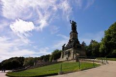 Rhine river. Statue Germania on the Rhine River Stock Photos
