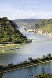 Rhine River, view from St Goarshausen Stock Photography