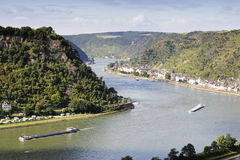 Rhine River, view from St Goarshausen Royalty Free Stock Photography