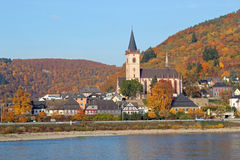 Rhine River Village royalty free stock photo