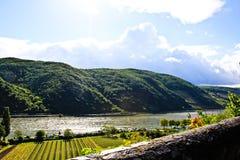 Rhine rzeka zdjęcia royalty free