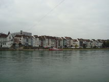 Rhine scenery in Basel Stock Photo