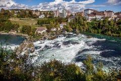 Rhine Spada - wielka siklawa w Europa, Schaffhausen, Szwajcaria Fotografia Stock