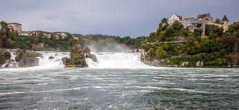 Rhine Spada - wielka siklawa w Europa, Schaffhausen, Szwajcaria Zdjęcie Stock