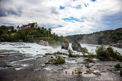 Rhine Spada - wielka siklawa w Europa, Schaffhausen, Szwajcaria Zdjęcia Royalty Free