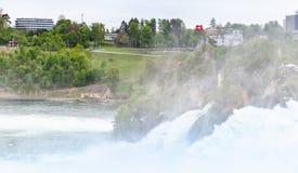 Rhine spadków krajobraz Turystyczny punkt widzenia zdjęcie royalty free