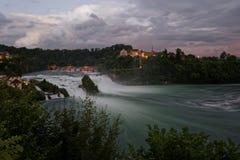 Rhine spadki Zdjęcia Royalty Free