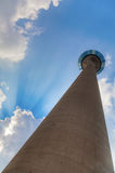 Rhine tower in Düsseldorf Royalty Free Stock Images