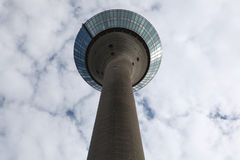 Rhine Tower in Dusseldorf, Germany. Stock Images