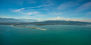 Rhine tributary from the rhine valley into the lake constance Royalty Free Stock Photos