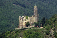 Rhine Valley Castle. Ancient castle on a hill in the Rhine Valley in Germany Stock Images