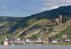 Rhine valley at the city of Kaub Royalty Free Stock Photography