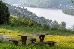Rhine Valley. Panorama of the Rhine Valley, Germany stock photo