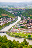 Rhine valley under clouded sky Royalty Free Stock Images