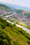 Rhine valley under clouded sky Royalty Free Stock Photos