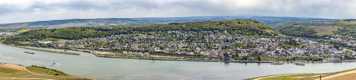 Rhine Valley With View To Bingen Over Vineyards Royalty Free Stock Photos
