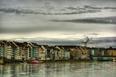 Rhine W Basel HDR zdjęcie royalty free