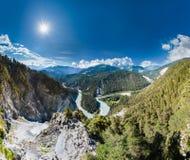 Rhine wąwozu, Szwajcaria Uroczysty jar od Il Spir Zdjęcie Stock