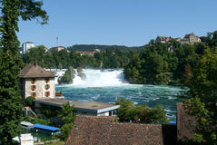 The Rhine waterfalls at Neuhausen Stock Image
