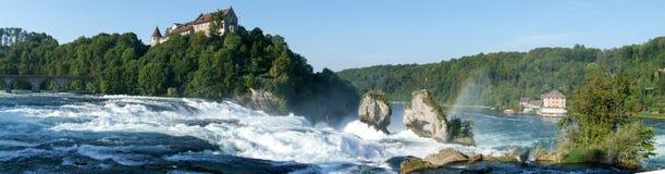 The Rhine waterfalls at Neuhausen. On Switzerland Royalty Free Stock Photos
