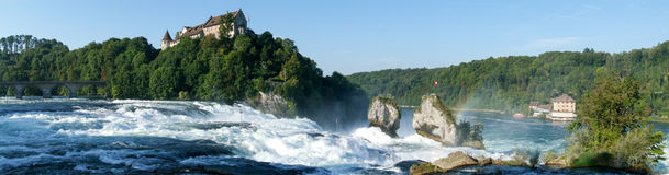 The Rhine waterfalls at Neuhausen Stock Photo
