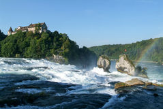 The Rhine waterfalls at Neuhausen Royalty Free Stock Images
