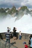 The Rhine waterfalls at Neuhausen on Switzerland Stock Photo