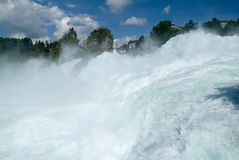 The Rhine waterfalls at Neuhausen on Switzerland Stock Image