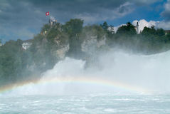 The Rhine waterfalls at Neuhausen on Switzerland Royalty Free Stock Photography