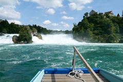 The Rhine waterfalls at Neuhausen on Switzerland Royalty Free Stock Images