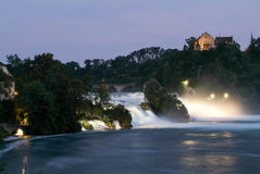 The Rhine waterfalls at Neuhausen on Switzerland Stock Photography