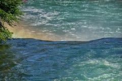 Rhine waterfalls in Switzerland detail Stock Images
