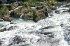 Rhine waterfalls in Switzerland detail Royalty Free Stock Images