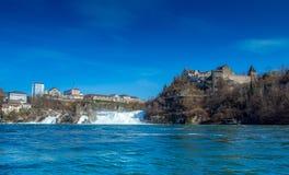 Rhinefall全景 库存图片