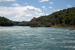 Rhinefall. The biggest waterfall in Europe Stock Photo