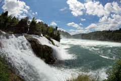 Rhinefall. The biggest waterfall in Europe Royalty Free Stock Photography