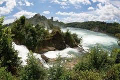 Rhinefall. The biggest waterfall in Europe Stock Photography