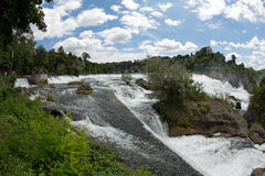Rhinefall. The biggest waterfall in Europe Royalty Free Stock Images