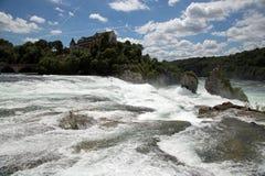 Rhinefall. The biggest waterfall in Europe Stock Photos