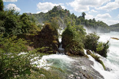Rhinefall. The biggest waterfall in Europe Stock Images