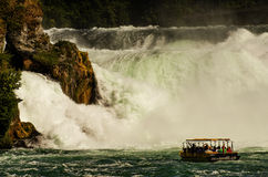 Rhinefall. The force of nature Royalty Free Stock Photography