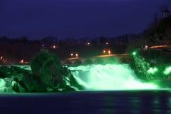 Rhinefall no dia de St Patrick Foto de Stock Royalty Free