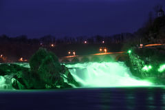 Rhinefall på Sts Patrick dag Royaltyfri Foto
